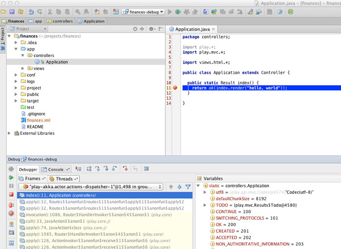 play intellij idea breakpoint